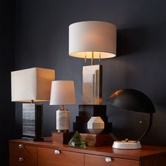 From side tables to desks, West Elm's contemporary task and table lamps are made to brighten every surface of your home or apartment. Choose from glass, ceramic, metal or natural wood in styles ranging from modern to industrial. We also offer adjustable task lamps and reading lights.