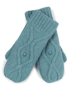 Bobble Knit Mitten