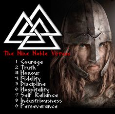 The Nine Noble Virtues of the Norse Pagan Warrior