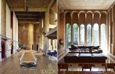 An estate carved from an old cement factory in Barcelona, published by Elle Decor and created by architect Ricardo Bofill.