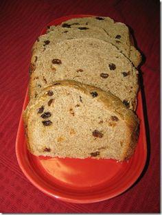 Cinnamon Raisin Bread- Bread Machine Recipe- 4 Points Plus