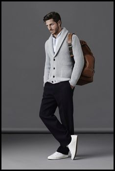 Top Casual Men's Outfits Ideas To Looks More Elegant Fashion Office, Fashion Mode, Guy Fashion, Winter Fashion, Mode Masculine, Style Casual, Casual Chic, Men's Style, Men Casual