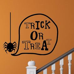 Halloween Decal  Trick or Treat Decal  Wall Decal by SpecialCuts, $6.00