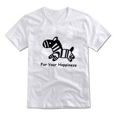 MIRINE Unisex Cute Baby ZEBRA Character Printing Graphic Cotton T-shirt_4 Colors #MIRINE #CASUAL