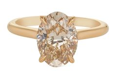 Champagne Engagement Rings, Solitaire Engagement, Champagne Diamond, Rose Gold, Jewels, Design, Jewelery, Gems