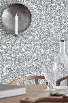 A new wallpaper book featuring designs from the - by five design icons. Scandinavian Designers II is available at Hirshfield's. Decor, Kitchen Wallpaper, Decor Design, Pattern Wallpaper, Scandinavian Wallpaper, Home Decor, Scandinavian Design, Leaf Wallpaper, Brewster Wallcovering