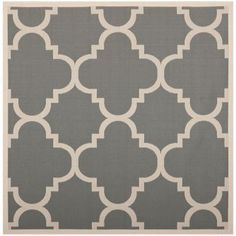 $150 - Safavieh Courtyard Grey / Beige 6 ft. 7 in. x 6 ft. 7 in. Square Area Rug - CY6243-246-7SQ - The Home Depot