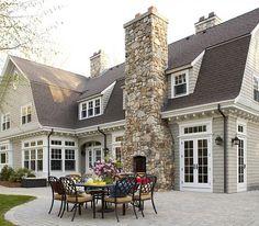 Beautiful Back Patio.Love The Fireplace......