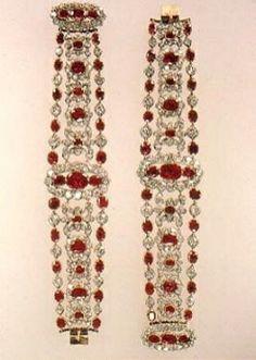 Bracelets from Marie Thérèse's Ruby and Diamond Parure