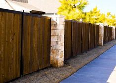 Modern Fence Systems [Metal Frame + Any Infill] - FenceTrac by Perimtec Biotin Hair Growth, Privacy Fences, Modern Fence, Garage Doors, Wall Decor, Wood, Garden, Metal, Frame