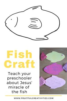 A few months ago, I started making Bible lessons for my 4 year old that I taught her specifically on Sabbath days. One of these lessons was about the miracle Jesus performed when He filled the nets with fish. #fishcraft #biblecrafts #kidscraft Sunday School Activities, Bible Activities, Indoor Activities For Kids, Bible Crafts For Kids, Easy Crafts For Kids, Preschool Activities, Fish Crafts, Christian Kids, Christian Parenting