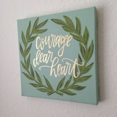 Hand lettered Canvas Art C.S. Lewis by AngelaDavidsonDesign