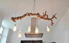 Textilkabel Lampe Ast