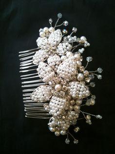 Bridal comb handmade
