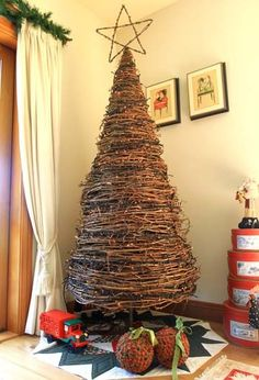 Christmas tree made from grapevine--must find this!