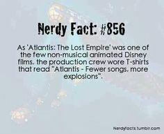 Atlantis: the lost empire one of my favorites and partly because of this