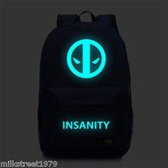 Deadpool Luminous Backpack Laptop School Travelling Bag (Multiple)