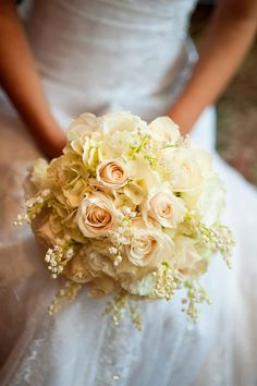 Lily of the Valley Bouquet | Tamar loved her creamy white bouquet accented with lily of the valley