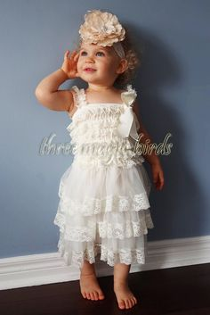 Hey, I found this really awesome Etsy listing at https://www.etsy.com/listing/191623831/rustic-flower-girl-dress-ivory-toddler