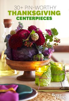 Look for a quick and easy Thanksgiving centerpiece? Check out these fabulous ideas!