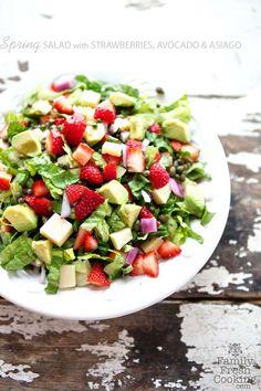 Strawberry, Avocado & Asiago Spring Salad - Marla Meridith - MarlaMeridith.com