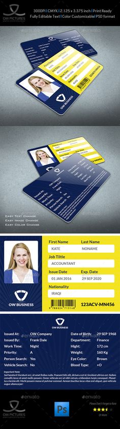 Multipurpose Business ID Card Template Vol.2 — Photoshop PSD #offices card #journey • Available here → https://graphicriver.net/item/multipurpose-business-id-card-template-vol2/13225961?ref=pxcr