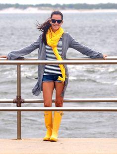 yellow Hunter boots   Hunter Boots   Pinterest #hunter #boots #yellow #rainboots