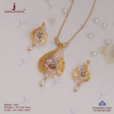Plain Gold Necklace Set gms) - Fancy Jewellery for Women by Jewelegance Gold Ring Designs, Gold Bangles Design, Gold Earrings Designs, Gold Jewellery Design, Necklace Designs, Gold Jewelry Simple, Unique Jewelry, Fancy Jewellery, Gold Pendant