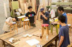 お気に入りのTシャツを世界で1つのスツールに! 職人と作るワークショップ