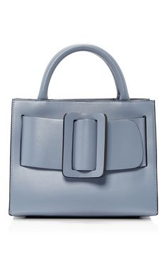 Shop Leather Bobby Bag This **BOYY** bag is rendered in calfskin and features a top handle and an oversized buckle. Leather Purses, Leather Handbags, Leather Bags, Real Leather, Boyy Bag, Design Bleu, Oversized Handbags, Blue Handbags, Blue Purse