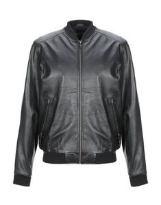Versace Jeans Bomber In Black Versace Jeans Mens, Mandarin Collar, Motorcycle Jacket, Leather Jacket, Long Sleeve, Sleeves, Jackets, Shopping, Clothes