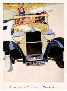 Brennabor (1929) - Somer - Ferien - Reisen: Advertising Art by Bernd Reuters
