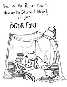 build your book fort!