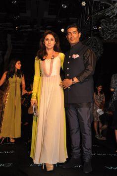 Urmila Matondkar with Manish Malhotra at the Opening Night event