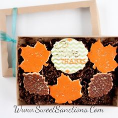 """a62b97ae23 Half Dz. """"Give Thanks"""" Gold Cookie Boxed Gift Set! Available Gift Boxed or  Loose"""