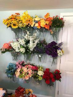 Arts And Crafts Storage, Craft Room Storage, Craft Organization, Storage Ideas, Organizing, Artificial Flower Arrangements, Artificial Flowers, Fake Flowers, Silk Flowers