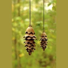 Garden Art - Pinecone wind chime- these would be pretty hanging in a tree