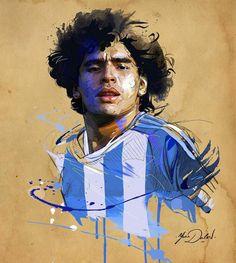 My painting of Maradona! Football Images, Football Art, Maradona Tattoo, Maradona Football, Street Art, Madrid Football, Soccer Art, Diego Armando, Messi Soccer