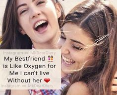 # Maryyum waseem and Maham-N❤ Dear Best Friend, Bestest Friend, Best Friend Quotes, Cute Quotes For Girls, Girly Quotes, Funny Quotes, Real Friendship Quotes, Best Friendship, Besties Quotes