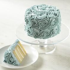 Blue Rose Cake #williamssonoma