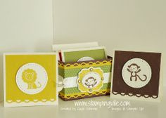 Handmade Mini Card Set -- perfect for Zoo Babies stamp set!