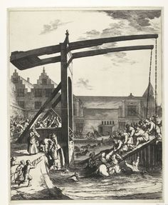 Jan de Visscher   Redding van graaf Johan Maurits na het ongeluk op de brug van Franeker, 1665, Jan de Visscher, Philips Wouwerman, Pieter Jansz. Post, 1665   Redding van graaf Johan Maurits na het ongeluk op de brug van Franeker, 1665, 6 januari 1665. De ophaalbrug waar de graaf met zijn gevolg overheen reed is ingestort. De graaf wordt uit het water gehaald, omstanders komen met ladders aangesneld.