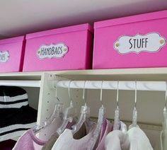 Organize your closet for less with these DIY organization and storage ideas. Many of these closet organization ideas are great for small closets and maximizing space. There are a hundred budget-friendly closet organization ideas for Closet Ideas For Small Spaces Bedroom, Small Closet Space, Bedroom Ideas, Diy Bedroom, Bedroom Furniture, Furniture Sets, Warm Bedroom, Baby Closet Organization, Home Organization Hacks