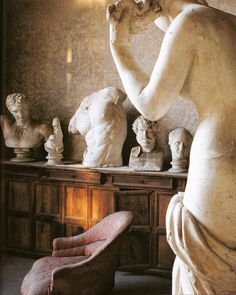 """cristopherworthland: """"The French Academy's collection of casts which artists, such as Ingres and Balthus, studied during their directorships at the Villa Medici. From The World of Interiors, February Photography by Denis Hollier."""