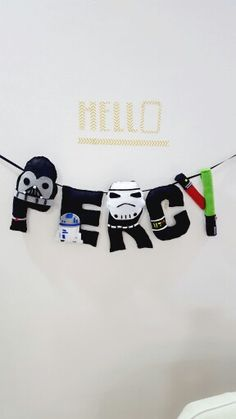 Starwars theme name banner  Darth vader, R2D2, Storm Trooper, light saber  -the force awakens  -may the force be with you