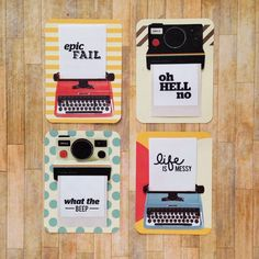Cute retro project life cards, epic fail Oh hell no, what the beep