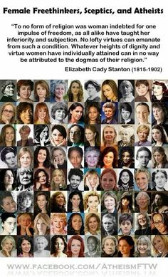 Atheism, Religion, God is Imaginary, Women. Female Freethinkers, Sceptics, and Atheists.