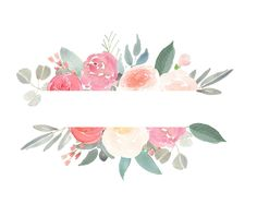 Hand drawn clip art watercolour flora frames and borders for from wallpaper Flower Background Wallpaper, Flower Backgrounds, Watercolor Rose, Watercolor Paintings, Flora Frame, Pastel Roses, Floral Logo, Flower Clipart, Floral Border