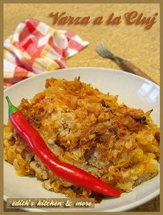 Varza a la Cluj  - layers of ground beef, sauerkraut and rice
