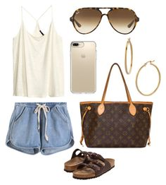 """""""Untitled #32"""" by cheyennespicer on Polyvore featuring Birkenstock, H&M, Ray-Ban, Louis Vuitton, Bony Levy and Speck"""
